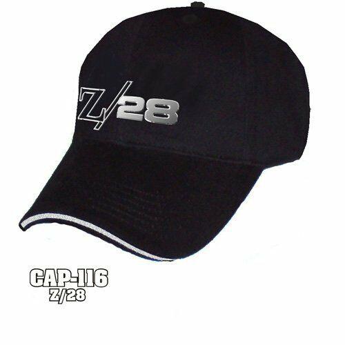 Chevy Camaro Z/28 Hat - Black w/ Chrome Liquid Metal Emblem