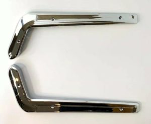 Driver & Passenger Side Seat Trim Moldings For 1965-1966 Ford Mustang - Stainless Steel