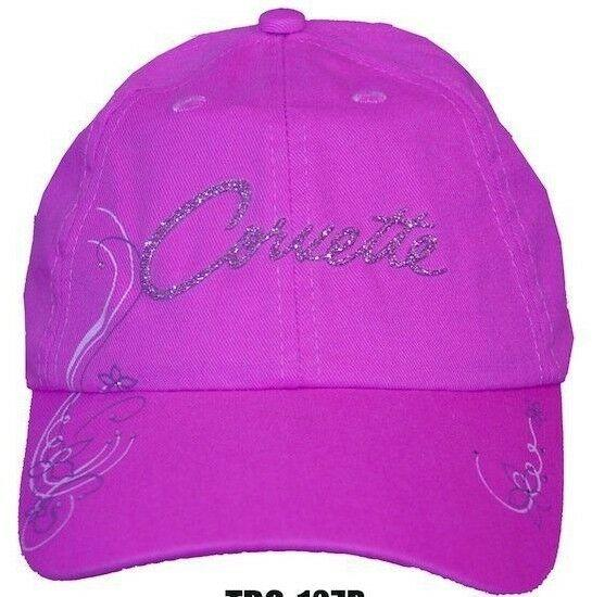 Chevy Corvette Hat - Pink w/ Glitter Emblem