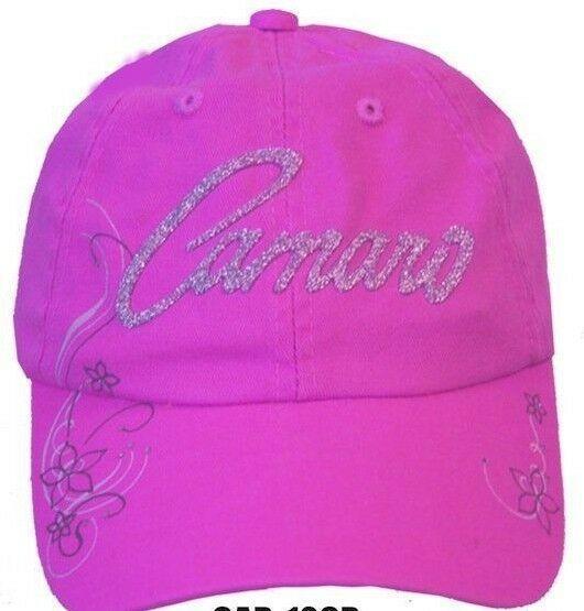 Chevy Camaro Hat - Pink w/ Glitter Emblem