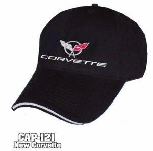 Chevy Corvette Hat - Black w/ Chrome Liquid Metal C5 Emblem
