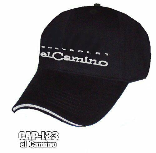 Chevy El Camino Hat - Black w/ Chrome Liquid Metal Emblem
