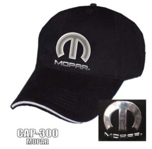 Mopar Hat - Black w/ Chrome Liquid Metal Emblem