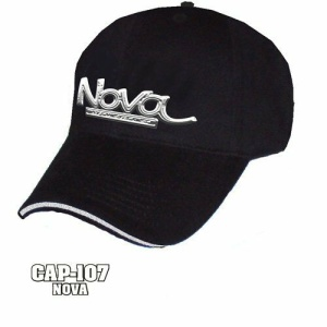 Chevy Nova Hat - Black w/ Chrome Liquid Metal Emblem