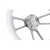 "14"" Polished Billet Aluminum Steering Wheel - Aftermarket Half Wrap - Muscle Style"