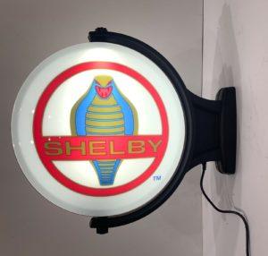 Shelby Cobra Emblem Sign - Revolving Light Up Globe