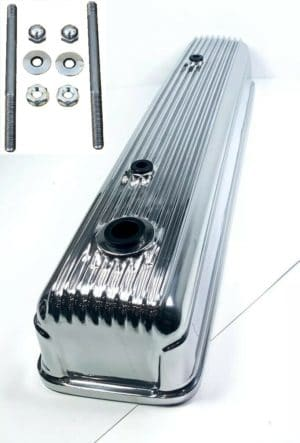 Finned Aluminum Tall Valve Cover for 1954-1962 Chevy 216 235 261 - Show Quality