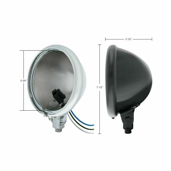 "Chrome Motorcycle Headlight Bucket Bottom Mount - 5 3/4"" Inch"