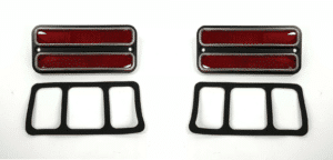 Red Deluxe Side Marker Light Turn Signal For 1968-1972 Chevy & GMC Truck