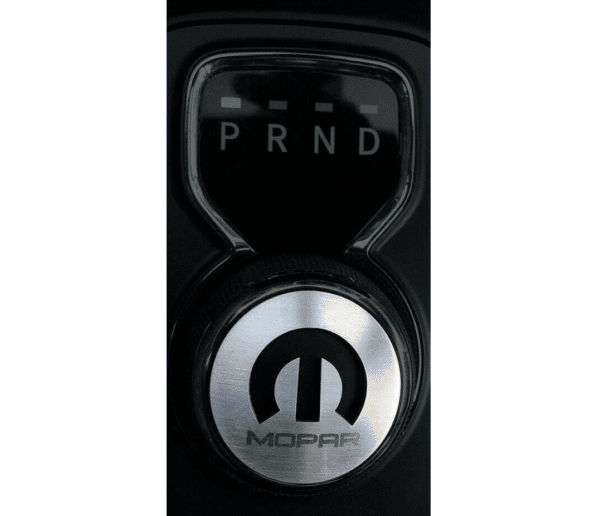 Dial Shift Knob Trim with Mopar Logo for 2015+ Dodge Vehicles - Stainless Steel