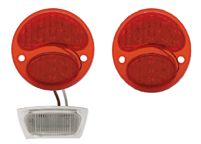 Pair of Ford Model A Tail Light 6V LED Conversion Inserts - Driver & Passenger Side - 1928-1931