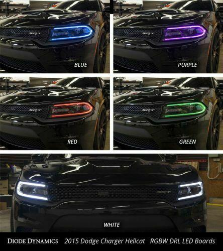 Pair LED Boards for 2015-2018 Dodge Charger - Multi Color w/ Bluetooth Control