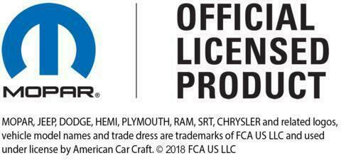Stainless Steel License Plate Frame w/ 392 HEMI Emblem (Licensed by Mopar)