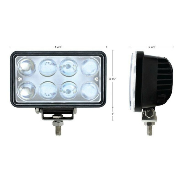 """LED 6"""" Driving / Work Light - 8 Bulb Off-Road Projector Light Pod for Truck / Jeep / ATV"""
