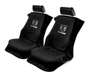 Pair of Black Seat Armour Cover Protectors for Dodge Ram Pickup Truck