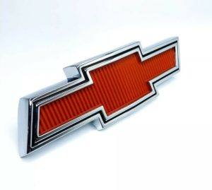 Red Bowtie Grille Emblem For 1967-1968 Chevy Pickup Truck