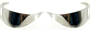 "Pair 5"" - 7"" Inch Headlight Headlamp Light Bulb Chrome Trim Cover Shield Visors"