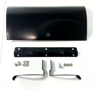 Black Glove Box Door w/ Hinges For 1955-1959 Second Series Chevy Pickup Truck