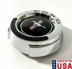 Chrome T-5 Pony Emblem Gas Cap w/ Cable For 1965-1966 Ford Mustang