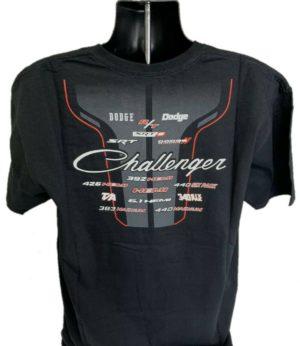 Dodge Challenger T-Shirt - Black w/ Multiple Trim & Engine Emblems