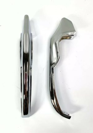 Chrome Rear Bumper Guards For 1965 Chevrolet Impala, Bel Air & Biscayne