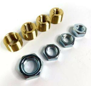 Brass Shift Knob Adapter Kit 16mm x 1.5mm To US Standard Threads