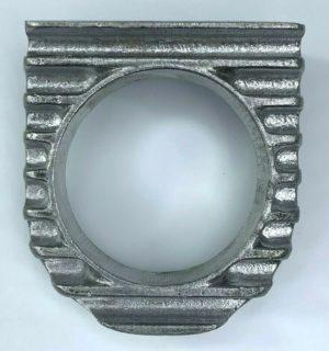 Finned Under Dash Single Gauge Panel - Unpolished Cast Aluminum