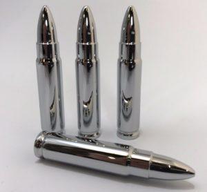 Bullet Tire Valve Stem Caps - Set of 4 Metal .223 Style