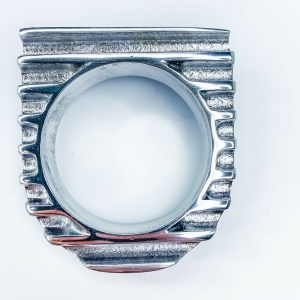 Finned Under Dash Single Gauge Panel - Polished Cast Aluminum