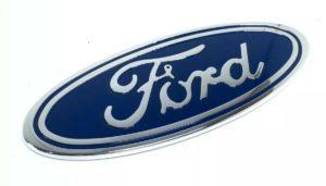 "Ford Grill Tailgate Oval Emblem - 9"" Blue & Chrome Premium Billet Aluminum"
