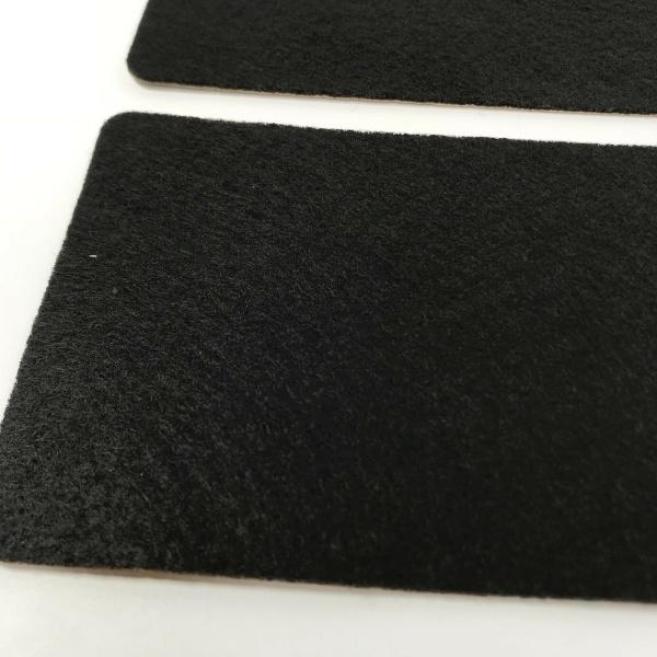 Pair of C5 / C6 Chevrolet Corvette Visor Warning Label Covers - Adhesive Black Felt