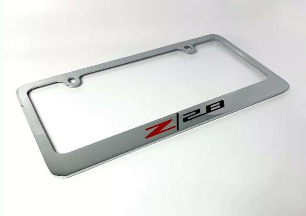 Camaro Z/28 Chrome License Plate Frame - Premium Engraved Logo / Emblem