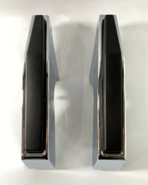 Pair of Chrome Front Bumper Guards For 1981-1987 Chevy & GMC Pickup Truck
