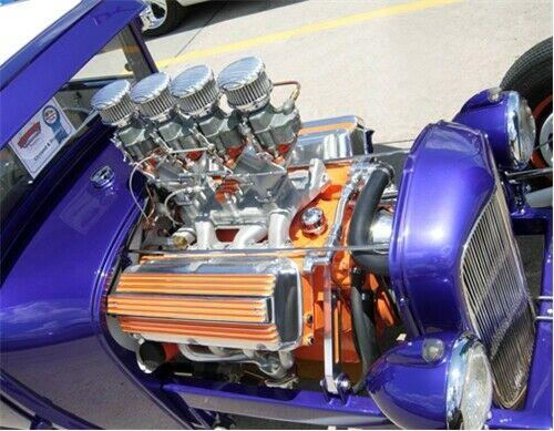 Polished Finned 2 Barrel Air Cleaner - Show Quality Aluminum 94 97 & 98 Carbs
