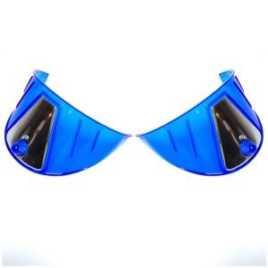 Pair Blue Plastic Headlight Visors - Fits 7'' Lights