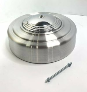 Show Quality Round 4 BBL Air Cleaner - Orbit Style Polished Cast Spun Aluminum
