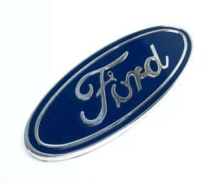 "Ford Oval Emblem - Rear 5"" Blue & Chrome Premium Billet Aluminum"