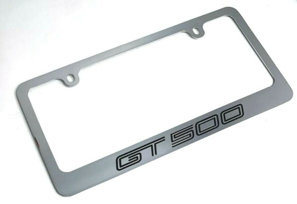 Mustang Shelby GT500 Chrome License Plate Frame - Premium Engraved