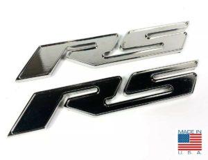 Pair of 2010-2018 Chevrolet Camaro RS Side Emblems - Chrome Billet Aluminum