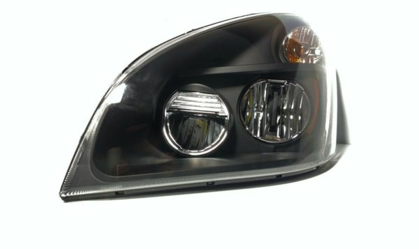 """Pair of LED """"Blackout"""" Headlights for 2008-2017 Freightliner Cascadia"""