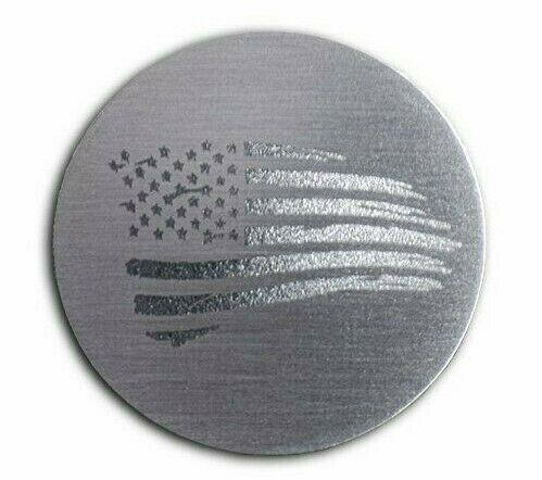 Distressed American Flag Dial Shift Knob Trim For 2015+ Dodge Vehicles