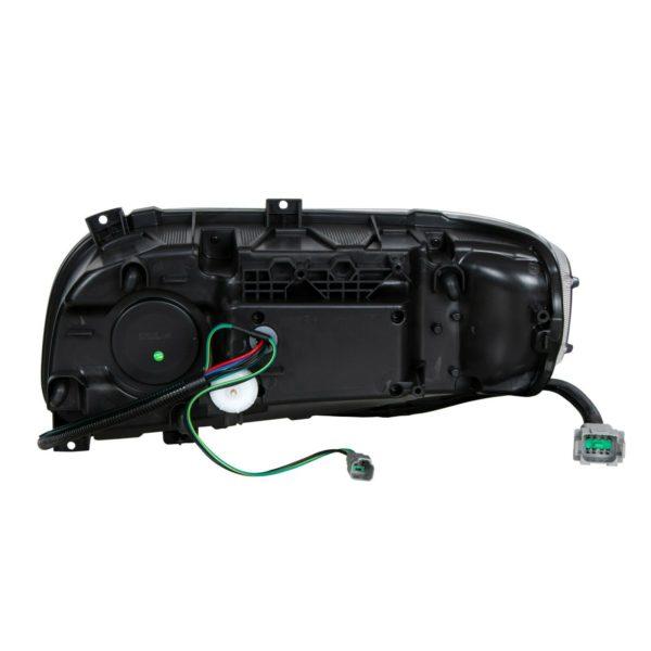 Pair Premium Blackout LED Headlights w/ LED DRL & Turn for Peterbilt 388/389