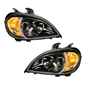 Pair of Blackout Projection Headlights for 1996-2018 Freightliner Columbia