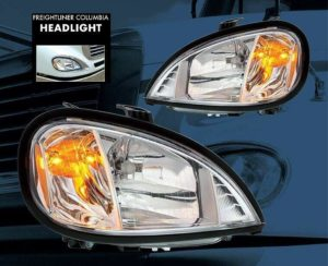 Pair of Chrome Headlights for 2004-2018 Freightliner Columbia Models
