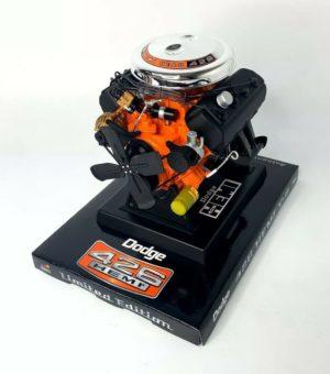 Model Engine 1:6 Scale Replica Diecast Of Orange Dodge HEMI 426 Motor