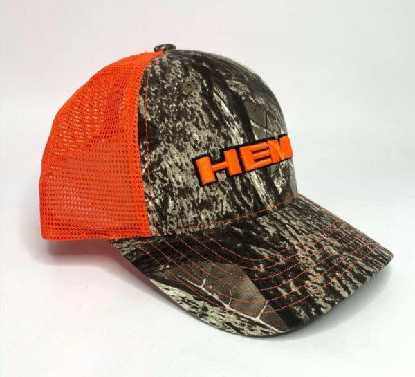 Dodge HEMI Hat / Cap - Hunters Camo w/ Orange Emblem