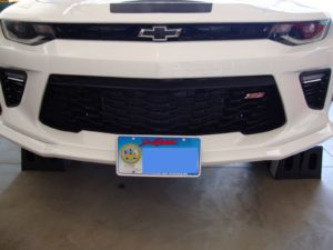 Sto N Sho Front License Plate Bracket for 2016-2019 Camaro w/ Ground Effects