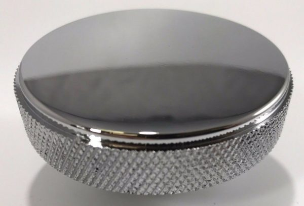 Chrome Aluminum Smooth Radiator Cap - 16 Lbs