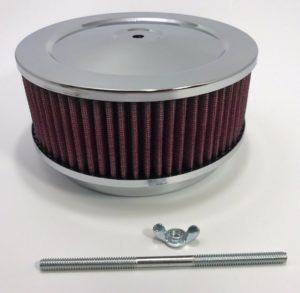 "Washable Chrome 6-3/8"" Air Cleaner Assembly 4 bbl Barrel Carburetor"