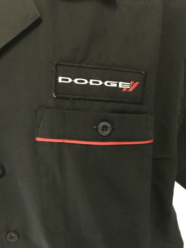 Mechanic Style Button Up Shirt w/ Dodge Emblem / Logo (Licensed)